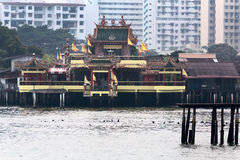 Templo em molhes do clã, Georgetown de Hean Boo Thean Kuanyin Chinese Buddhist, Malásia, Penang Tradução: Hean Boo Thean Kuanyin fotografia de stock