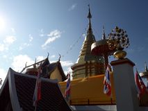 Templo em Tailândia do norte imagem de stock royalty free