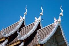 Templo em Tailândia, templo na província do chiangmai Imagem de Stock