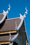 Templo em Tailândia, templo na província do chiangmai Fotografia de Stock