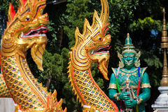 Templo em Tailândia, templo na província do chiangmai Fotos de Stock Royalty Free