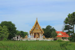 Templo em Wat Khumkaeo Imagem de Stock