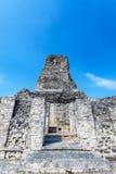 Templo em Xpujil, México fotos de stock royalty free