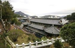 Templo en Busán Corea Imágenes de archivo libres de regalías