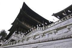 Templo en Busán Corea Foto de archivo libre de regalías