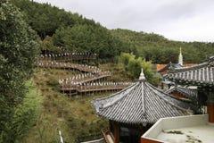 Templo en Busán Corea Imagen de archivo