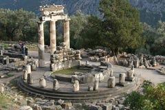 Templo en Delphi Imágenes de archivo libres de regalías
