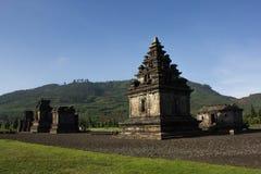 Templo en Dieng, Indonesia Imagenes de archivo