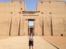 Templo en Egipto Fotos de archivo libres de regalías