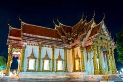 Templo en el día santo budista Fotos de archivo