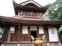 Templo en el estilo arquitectónico tradicional del este, Hai D Fotos de archivo