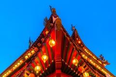 Templo en el festival de mediados de otoño, Kuala Lumpur de Thean Hou Foto de archivo libre de regalías