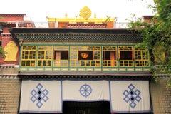 Templo en el instituto de Norbuligka Fotos de archivo