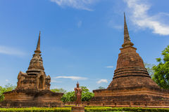 Templo en el parque histórico Tailandia de Sukhothai Fotografía de archivo