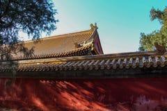 Templo en el templo de la tierra, parque de Ditan, Pekín Fotos de archivo libres de regalías