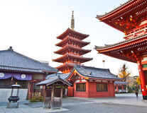 Templo en Japón, cultura de Sensoji Imagen de archivo libre de regalías