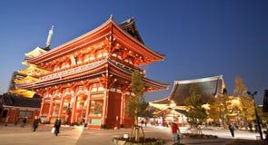 Templo en Japón, estructura de la puerta de Sensoji Fotos de archivo libres de regalías