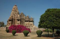Templo en Khajuraho Imagen de archivo libre de regalías