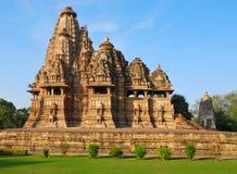 Templo en Khajuraho la India Fotos de archivo