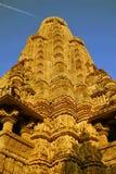 Templo en Khajuraho la India Imagenes de archivo
