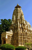 Templo en Khajuraho la India Fotos de archivo libres de regalías