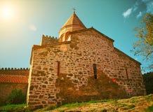 Templo en la fortaleza antigua Ananuri Imagen de archivo libre de regalías