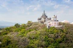 Templo en la montaña del topof, detalles arquitectónicos de Phra Nakhon KH Fotos de archivo libres de regalías