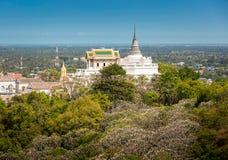 Templo en la montaña del topof, detalles arquitectónicos de Phra Nakhon KH Imagen de archivo