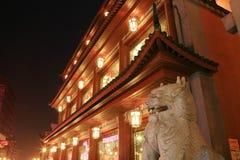 Templo en la noche en China Foto de archivo libre de regalías
