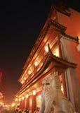 Templo en la noche en China Fotografía de archivo libre de regalías