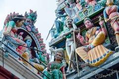 Templo en la poca India, uno de Sri Veeramakaliamman del templo más viejo de Singapur Fotos de archivo libres de regalías