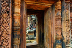Templo en la selva Fotografía de archivo libre de regalías