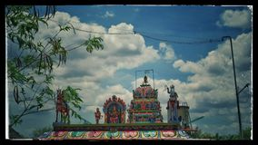 Templo en las nubes foto de archivo