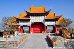 Templo en las tres pagodas Foto de archivo libre de regalías