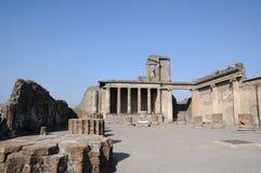 Templo en pompeii Imágenes de archivo libres de regalías