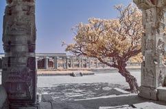 Templo en ruinas debajo de un cielo azul en Hampi imagen de archivo