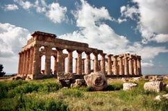 Templo en Selinunte Fotografía de archivo libre de regalías