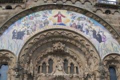 Templo en Tibidabo, Barcelona Imagen de archivo