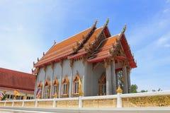Templo en Wat Rom Pho Manotham Foto de archivo libre de regalías