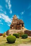 Templo erótico em Khajuraho Fotografia de Stock