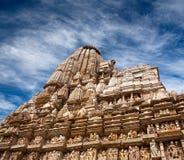 Templo erótico famoso en Khajuraho, la India Imagen de archivo libre de regalías