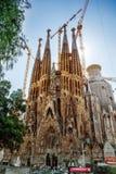 Templo Expiatorio de la Sagrada Familia Barcelona Spanien arkivbild