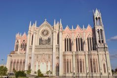Templo Expiatorio Leon Mexico. This is the biggest and most beautiful church in Leon Guanajuato, called Templo Expiatorio stock images