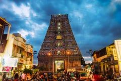 Templo famoso de Arulmigu Kapaleeswarar en Chennai, la India foto de archivo