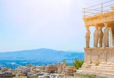 Templo famoso de Athena Nike do grego em Grécia Fotografia de Stock