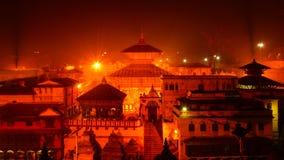 Templo famoso de Pashupatinath em Kathmandu Nepal Fotografia de Stock Royalty Free