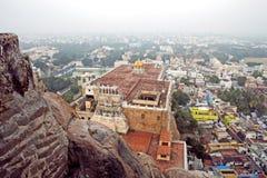 Templo famoso de Rockfort Ucchi Pillayar Fotos de Stock