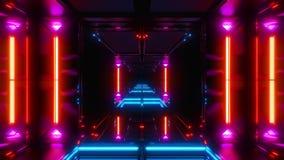 Templo futurista 3d do scifi para render ilustração do vetor