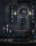 Templo gótico 1 stock de ilustración