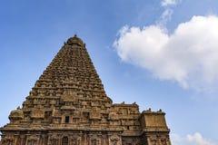 Templo grande Vimana - parte inferior de Thanjavur encima de la visión imágenes de archivo libres de regalías